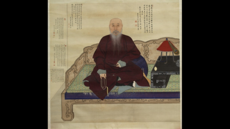 Portrait of the elderly Master Jing.