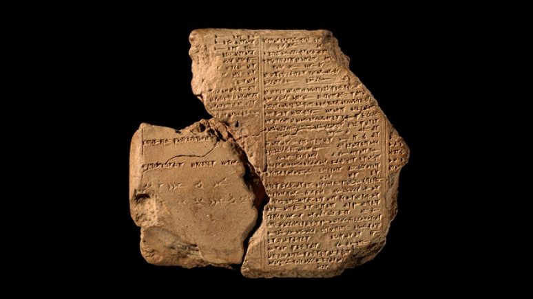The Epic of Gilgamesh, Tablet VI, Clay, Nineveh, Library of Ashurbanipal, 7th century BCE. © The Trustees of the British Museum.