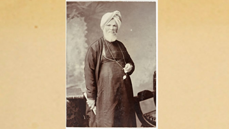 Portrait du raja Deen Dayal. Épreuve à la gélatine argentique. Mumbai (Maharashtra), Inde. Avril 1904. Avec l'aimable autorisation du Peabody Essex Museum, Salem (Massachusetts)