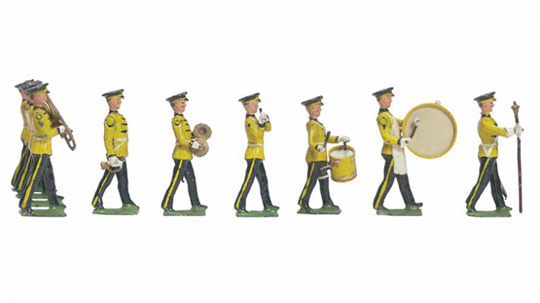 Photo of toy soldiers in yellow uniforms