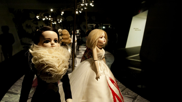 "For these hand-crafted archival replicas of their creations, Viktor&Rolf created a ""runway"" environment specifically for the ROM."