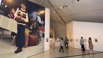 Visitors exploring the exhibition