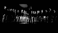 Photograph of the Penn Glee Club performing