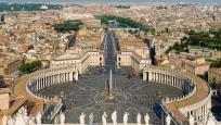 Vue de Rome, de la Place Saint-Pierre et du Vatican