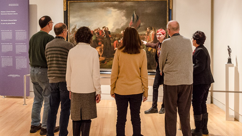 Visitors on a Museum tour with a docent. © Paul Vaculik