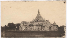 Black and white pagoda image