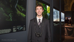 Connor Stefanison at the Wildlife Photographer of the Year Exhibition at Natural History Museum, UK