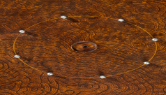 Detail of crokinole board
