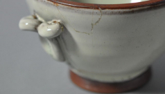 detail of a ceramic cup