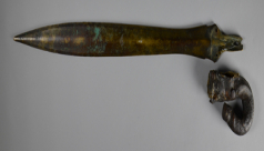 The Late Bronze Age sword and its 18th century grip.