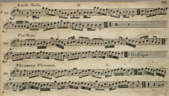 European Music Book. Detail. 1835.