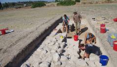 Archaeologists excavating in Cyprus