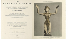 The front pages of The Palace of Minos volume 4, published by Sir Arthur Evans in 1935