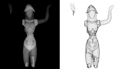 X-ray image of the ROM goddess (still 'fully' dressed)