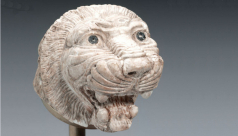 Finial in the form of a lion's head, Syria, ivory, c. 800-600 BC, 996.86.1