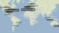 Photo from www.trendsmap.com of #MuseumSelfie trending internationally