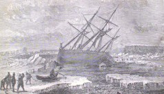 The ship 'Fox' foundered on a rock off Buchan Island