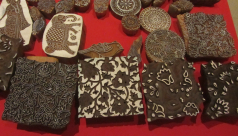 Woodblocks carved by Gangadhar at the weekend display, ROM, October 2018.