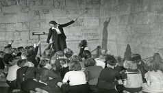 Ella Martin instructs a group of students. ROM Archives SC82
