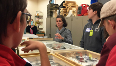 Students preview a variety of bug specimens held in the ROM's research collections.