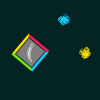 coloured blocks approach a square with coloured sides