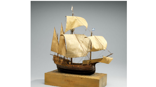 a model of a sailing ship