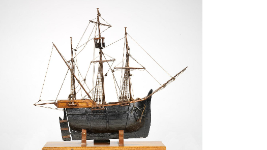 "a model of John Cabot's ship, the ""Matthew."""