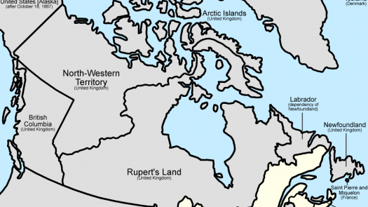 a map of Canada at the time of Confederation