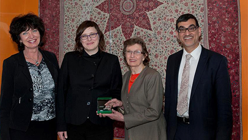Patricia Harris presented with the Manulife Volunteer Award