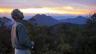 Chris Darling, ROM Curator, overlooking Borneo landscape.