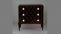 Commode, (macassar ebony, ivory), Unidentified Maker, Paris, France, 1920s - 1930s (989.315.16)