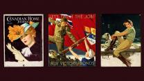 Femme portant un chapeau et des gants (huile et mine sur toile), Rex Woods, 1937. Let's Finish the Job! - Buy Victory Bonds (huile sur toile), Rex Woods, 1943. Cavalière au dalmatien (huile sur toile), Rex Woods, 1936