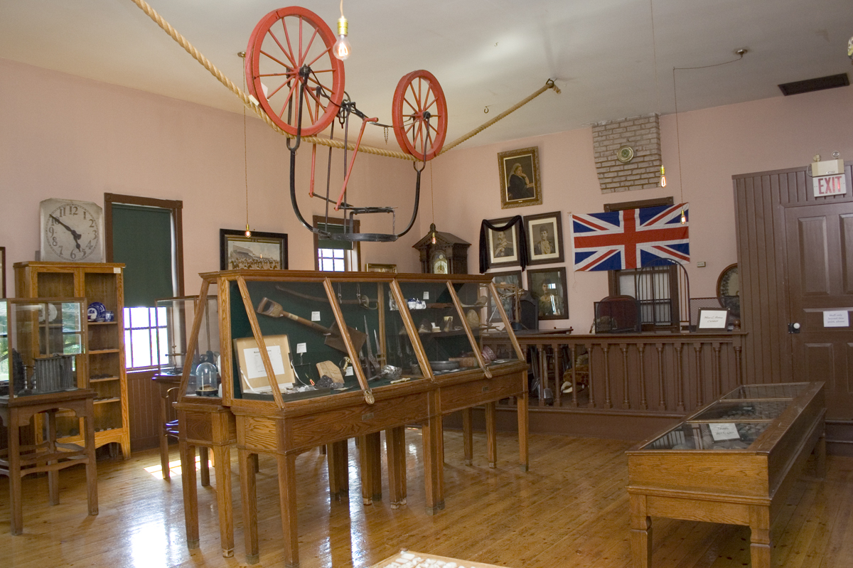 display room in Waterloo Museum