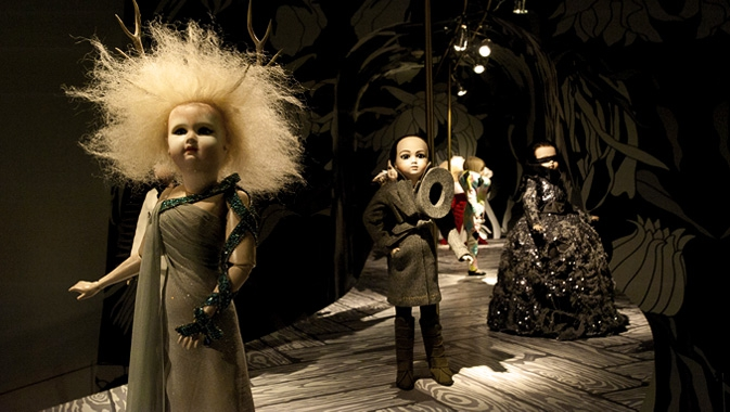 """For these hand-crafted archival replicas of their creations, Viktor&Rolf created a """"runway"""" environment specifically for the ROM."""